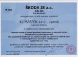 Wir sind Besitzer vom 'Zertifikat für qualifizierten Lieferant von Škoda JS, a. s., Pilsen'