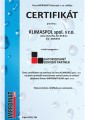 Certifikát firmy Impromat Klima spol. s r.o.  udělený v rámci programu Autorizovaný partner.