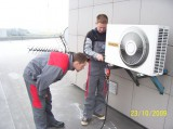 Montáž klimatizace Hitachi (Letecká základna Sedlec)