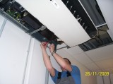 Mounting the ceiling air conditioner FUJITSU (AU Optronics)