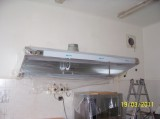 Montáž digestoře do kuchyně (MŠ Dukovany)